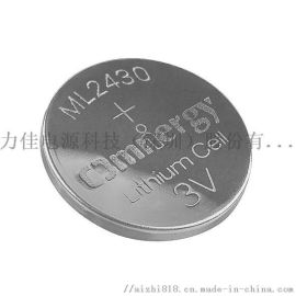 锂铝合金可充扣式微型电池 纽扣电池 ML2430