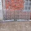 仿古铝花格造型花窗 井子格仿木纹铝花窗厂家