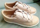 米色PU系带布胶鞋