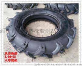 农用微耕机 拖拉机 田园管理机轮胎500-12 5.00-12 R-1 人字花纹轮胎