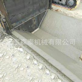 销售U型水渠成型机 梯形混凝土渠道衬砌机自走式全液压水利沟渠机