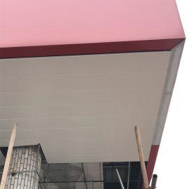 加油站罩棚红色广告牌铝单板 密拼铝单板氟碳喷涂耐用
