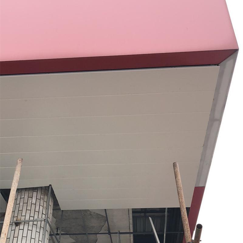加油站罩棚红色广告牌铝单板 密拼铝单板 碳喷涂耐用