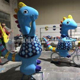 玻璃鋼恐龍雕塑 玻璃鋼翼龍動物雕塑 玻璃鋼彩繪工藝品 動物雕塑