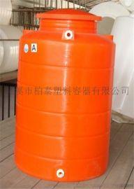 柏泰0.8立方塑料水箱PE水桶储罐水塔