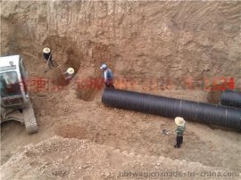 HDPE塑钢缠绕排水管 塑料大口径排水管