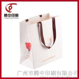 广州厂家定制服装保健品礼品白卡纸手提包装纸袋