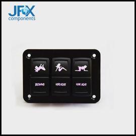 厂家直销房车配件改装铝板组合取电座面板带灯开关