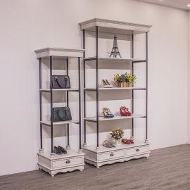 领秀展示木质烤漆服装展示柜