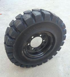 厂家直销5.00-8实心轮胎叉车轮胎装载机工程轮胎