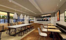 麦德嘉生产MDJ-BD051肯德基吧凳美式供应铁艺餐桌吧台凳快餐店高吧台凳子