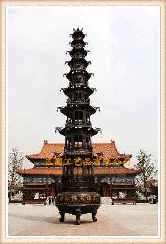 正圆大型铜宝鼎厂家,寺庙五层 七层铜宝鼎生产厂家