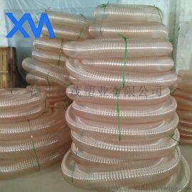 工业吸尘管pu钢丝伸缩软管透明规格齐全聚氨酯管