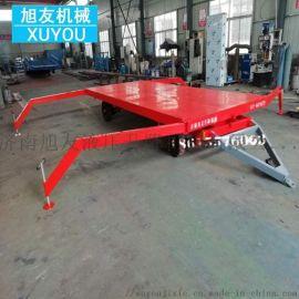 叉车牵引式平板车四轮转向平板拖车工厂车间转运车