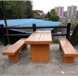 仿木坐凳模具
