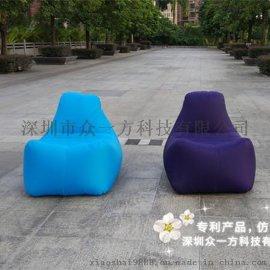 户外口袋沙发便携式空气可折叠座椅快速充气沙发床充气垫午休床