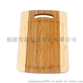 恻压双色拉手柄竹菜板 竹砧板 竹制品 竹工艺品