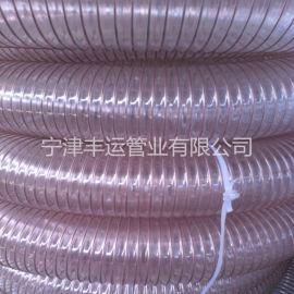 耐磨木工机械抽吸管透明PU吸尘管山东PU管厂家
