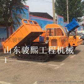 小型农用全地形橡胶履带运输车 水田山地适用