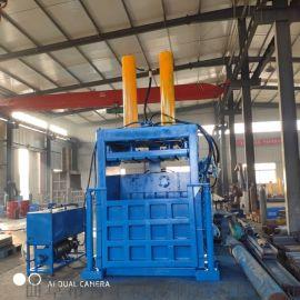 温岭服装碎布压缩机废纸箱废报纸立式液压打包机厂
