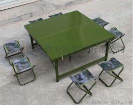 [鑫盾安防]迷彩野戰折疊桌椅 戶外野戰軍綠折疊餐桌XD6