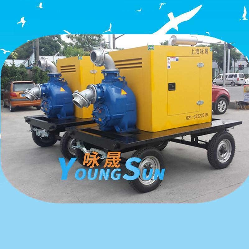 6寸農田灌溉柴油機水泵 8寸城市防汛柴油抽水機