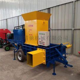 水稻秸秆压块机 青储压块机
