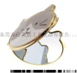 滴胶折叠小镜子厂家定制便携卡通美容小镜子