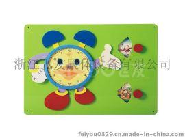 儿童墙上桌面木质益智玩具贴器官学识钟