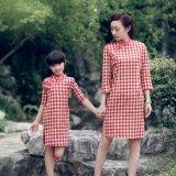 亲子母女装 棉麻复古文艺中国风旗袍唐装