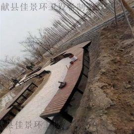 河北沧州献县户外公园座椅防腐木园林椅塑木休闲椅厂家批发