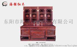 汉宫书桌书柜_海强红木