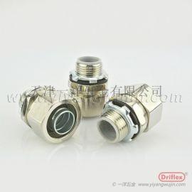 天津廠家供應穿線不鏽鋼直接頭 防水包塑軟管接頭