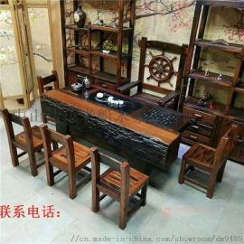 老船木茶桌 供应品质好的船木茶桌 餐桌椅沙发多宝阁博古架