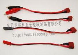 电池转换插头线平衡充电器四组线