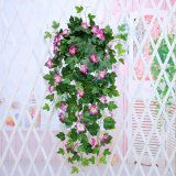 假花 仿真植物家居 仿真花仿真牵牛花藤喇叭花藤仿真壁挂花吊兰花