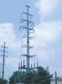 供应山西朔州35KV电力钢杆 钢管杆 电力钢管塔