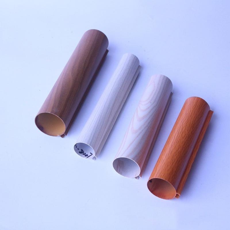 铝圆管定制厂家直销吊顶天花木纹铝圆管规格定制