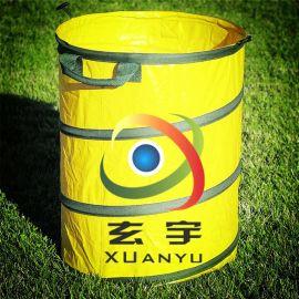 生产防水抗污折叠式垃圾桶袋垃圾桶面料 PVC防水夹网布
