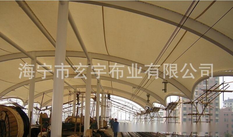 供应膜结构、停车棚、棚房,生产加工各种形状膜结构PVC膜材