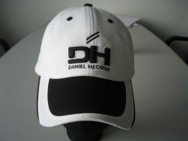 白黑纱卡六片高尔夫帽