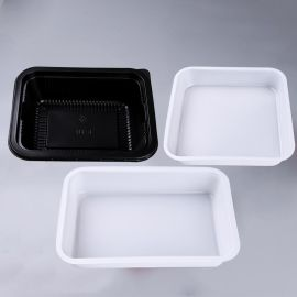 小龍蝦一次性塑料飯盒包裝透明沙拉果蔬託盤生海鮮冷鮮肉包裝託盤