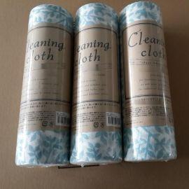 新价供应多规格印花带孔家用水刺布抹布_专业定制无纺布生产厂家