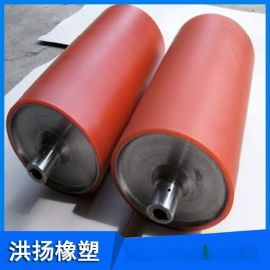 矿山机械用聚氨酯胶辊 高耐磨聚氨酯重型托辊 胶辊