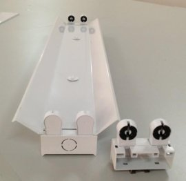 T8雙支帶罩支架,弧形罩支架,LED燈配件