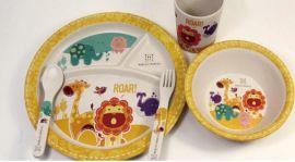 MARCUS&MARCUS 竹纤维餐具,婴儿碗套装  婴儿碗碟套装  婴儿竹碗五件套   婴儿餐具套装