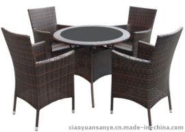 仿藤桌椅 室內室外一桌四椅 陽臺套件組合 休閒