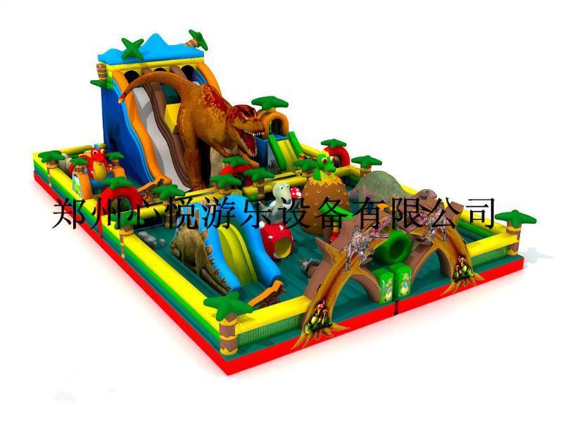 新款新奇儿童充气城堡恐龙充气滑梯熊出没系列