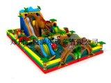 新款新奇兒童充氣城堡恐龍充氣滑梯熊出沒系列