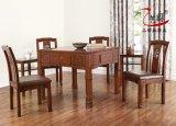 藝園實木麻將桌餐桌兩用機麻家用四口白色七件套